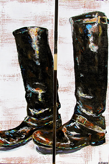 """Vintage Boots"" by Amanda Vick Roach  ~  x"