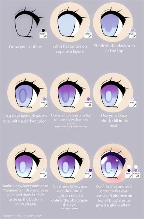 anime eye tutorial  iseanna  deviantart painting