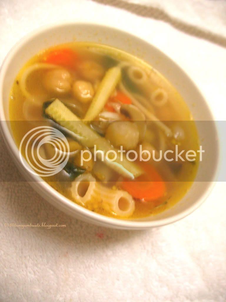 Chickpea noodle soup 2