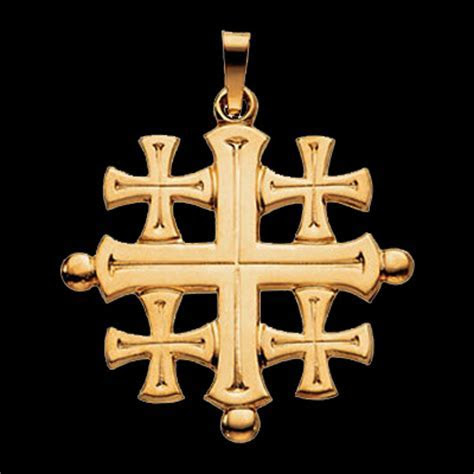 Jerusalem Cross Pendant ? Religious Piece by Gracious Rose