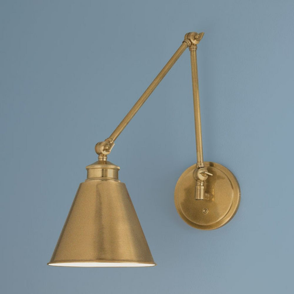 Norwell Lighting Aidan Aged Brass Swing Arm Lamp | 8475-AG ...