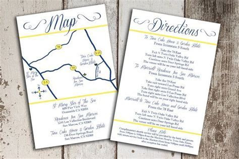 Custom Wedding Map and Direction Invitation by