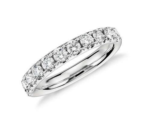 Riviera Pavé Diamond Ring in Platinum (3/4 ct. tw.)   Blue