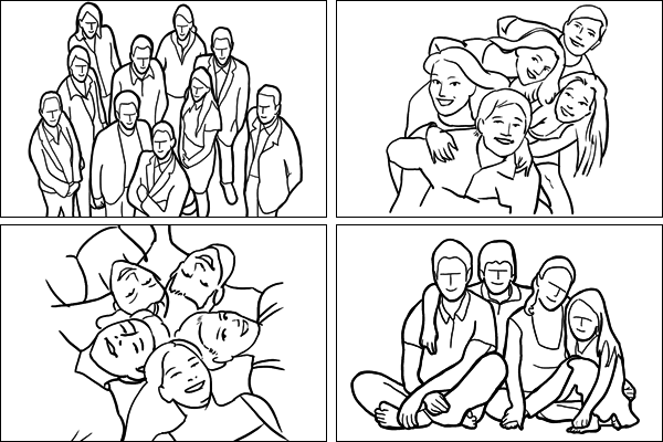 Позы для групповых портретов