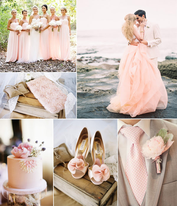 Ivory And Blush Pink Wedding Party