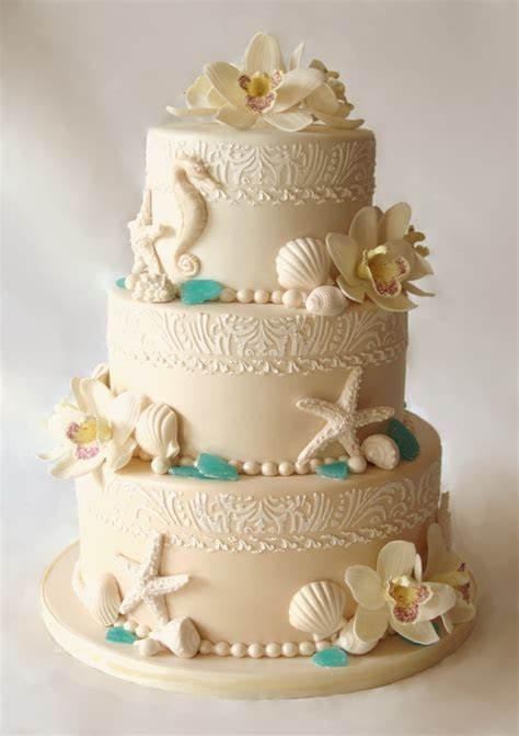 Beach Wedding Cakes: 15 Incredibly Fun and Vibrant Ideas