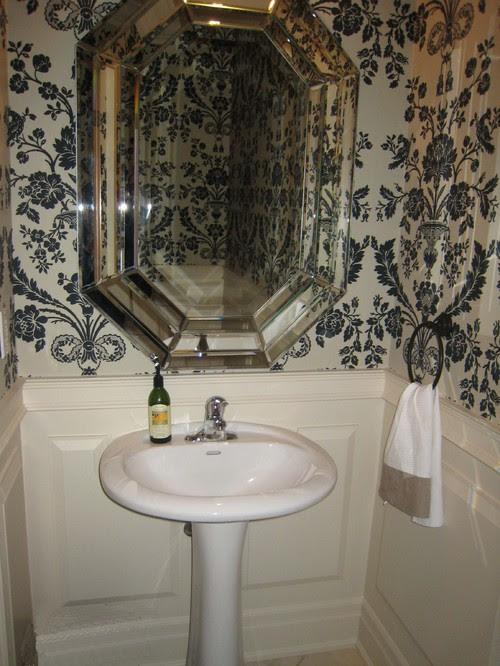 What is the best shape mirror to place with a round pedestal sink ...