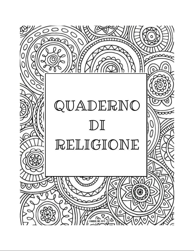 Copertina Quaderno Di Grammatica Da Colorare Copertina