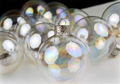 10 Iridescent Glass 2in Ornament Balls 60mm