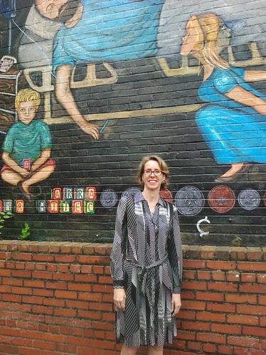 Kathleen at the Mural