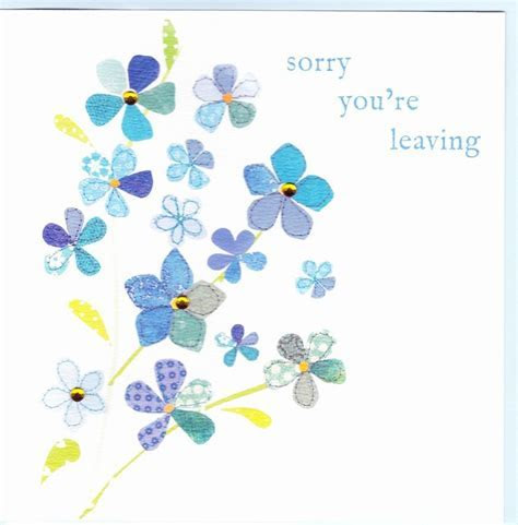 Forget Me Not Leaving Card   Karenza Paperie