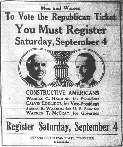 Register for 1920 election