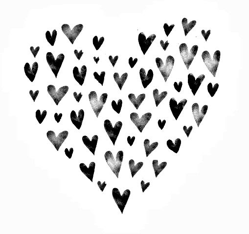 Hearts Black And White Free Download Best Hearts Black And White