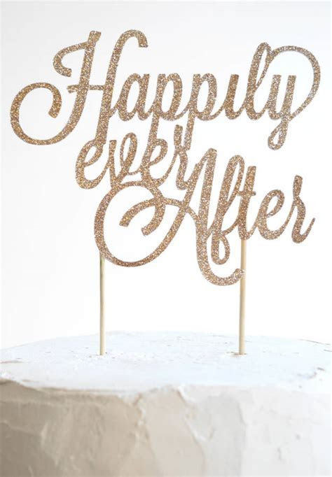 happily ever after wedding cake topper by may contain