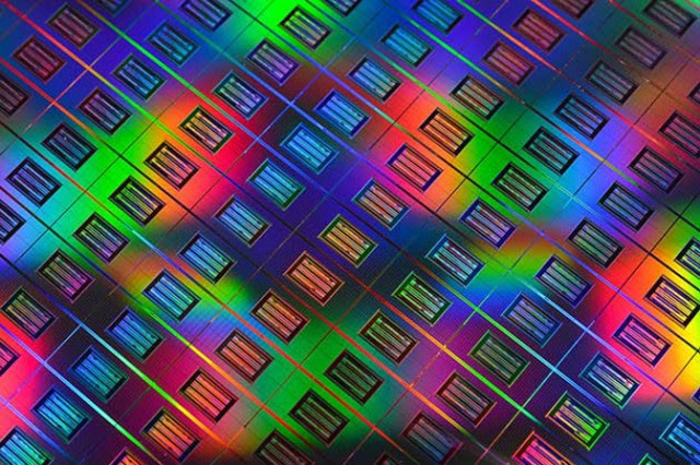HP memristor die/wafer shot