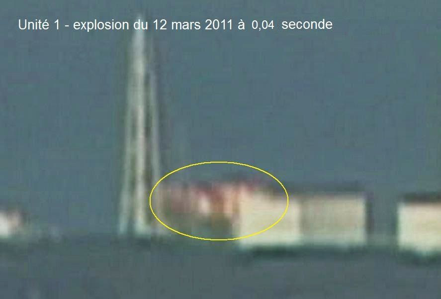 Fig. 86 : Flamme de l'explosion d'hydrogène du BR1 le 12 mars 2011