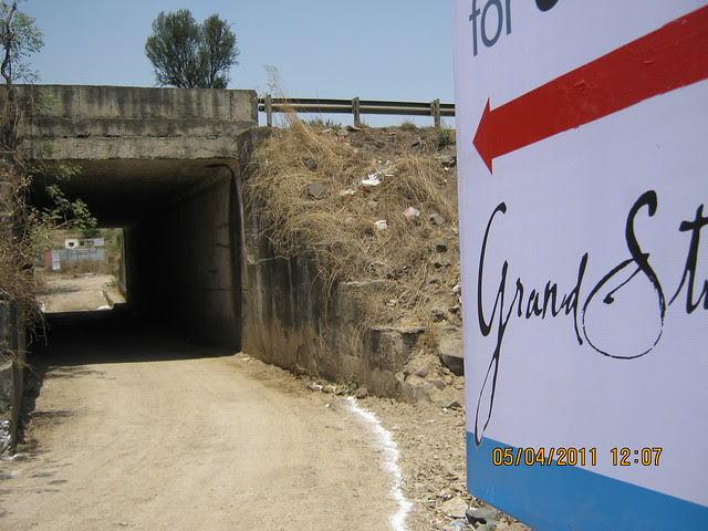 Grand Tunnel to Grand Stand - on the other side of Mumbai Bangalore Bypass, next to Wonder Funkey - Kothrud Pune