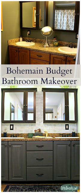 Bohemian Budget Bathroom Makeover-Art Is Beauty-HMLP 123 Feature