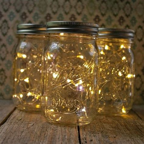 diy mason jar fairy lights run  small strand