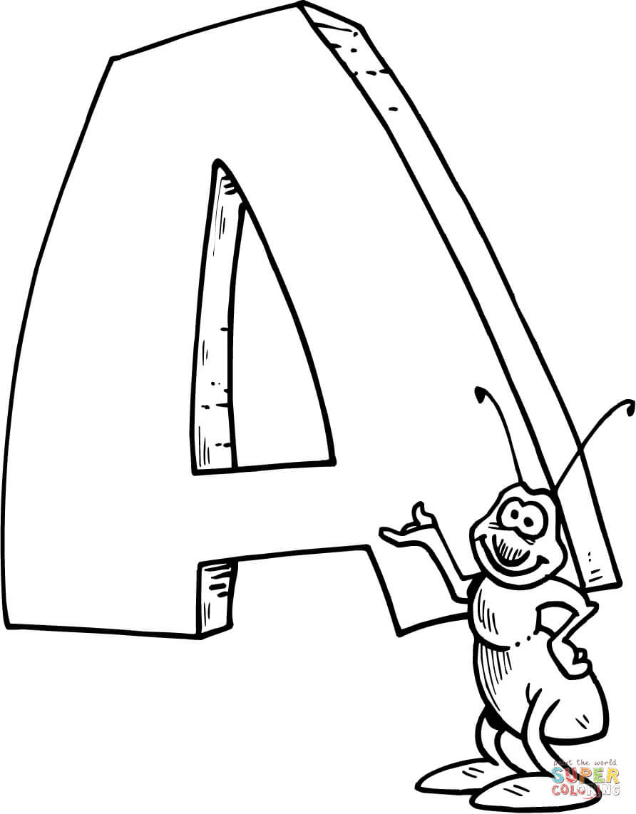 860 Coloring Pages Letter A Pictures