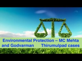 Seminal cases in Environmental Protection – MC Mehta and Godvarman      ...