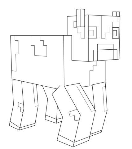 Malvorlagen Minecraft Tiere