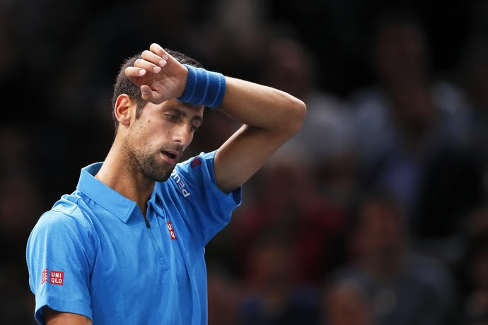 Novak Djokovic x Martin Cilic - Masters 1000 de Paris tênis (Foto: EFE)