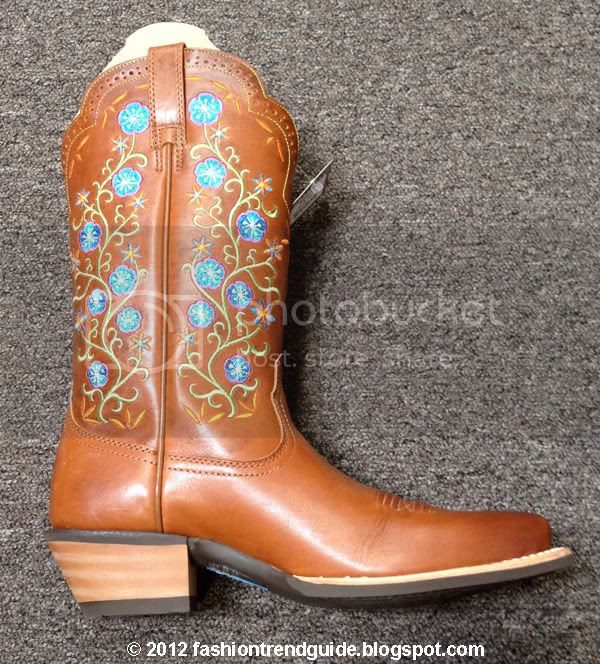 flower embroidered cowgirl boots