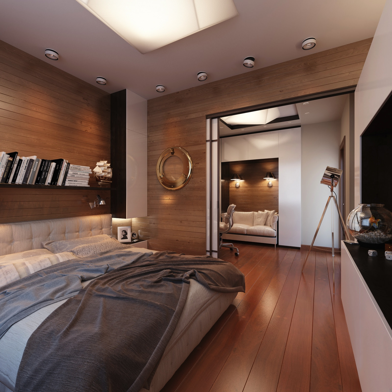Yacht Style Bedroominterior Design Ideas