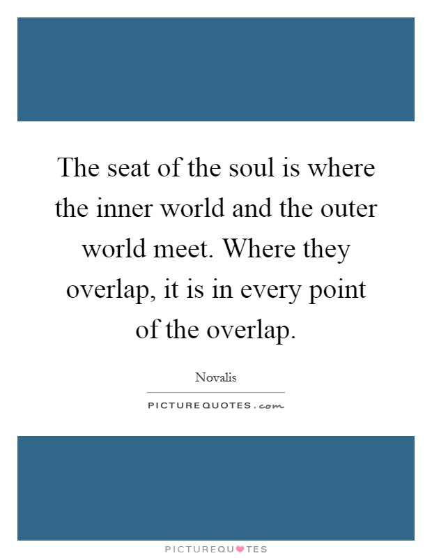 The Seat Of The Soul Is Where The Inner World And The Outer
