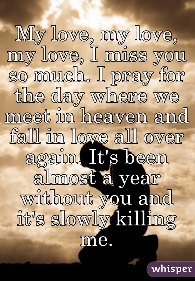 My Love My Love My Love I Miss You So Much I Pray For The Day