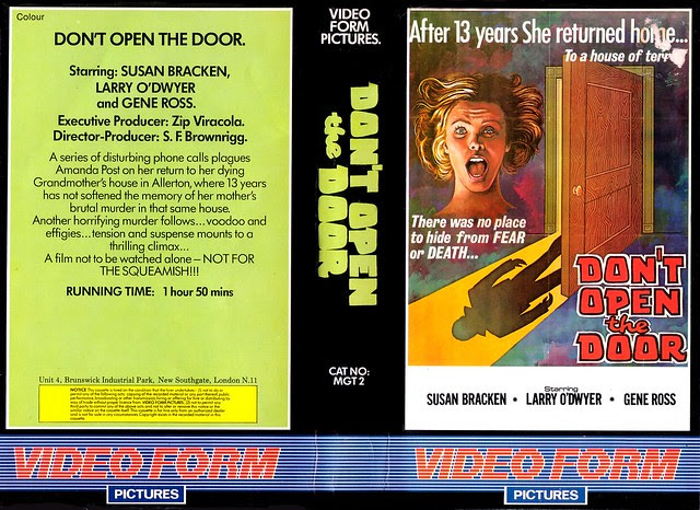 Don't Open The Door (VHS Box Art)