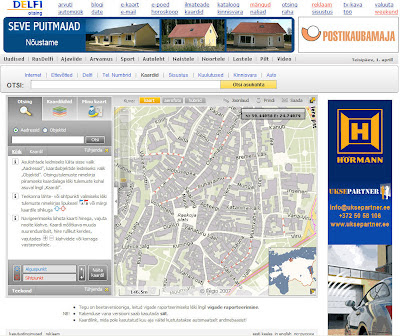 Estonia: Delfi with interactive map and aerial view
