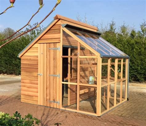 grow  store combination shed  greenhouse