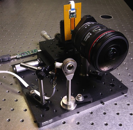 UCSD engineers develop mini wideangle lens that's ten times smaller than a regular one