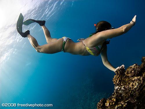 female legs in the water