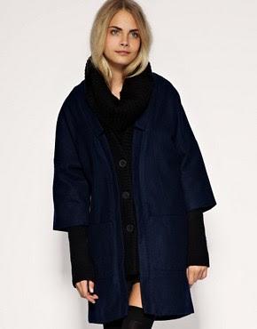 Image 1 - ASOS - Manteau en tricot effet côtelé