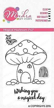 """Mudra Stamps - Magical Mushroom - 3""""X2"""""""