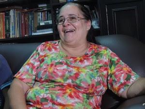 Lana Ribeiro se emociona ao contar história dos filhos (Foto: Felipe Gibson/G1)
