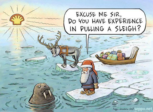 Image result for santa arctic cartoons