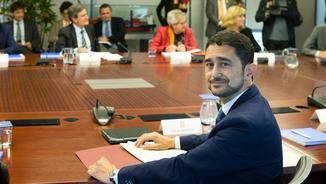 El conseller de Territori, Damià Calvet, a la reunió bilateral d'infraestructures (EFE)