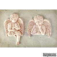 Набор украшений Prima - Shabby Chic Resin Treasures Cherub with Bird, 2 шт. - ScrapUA.com