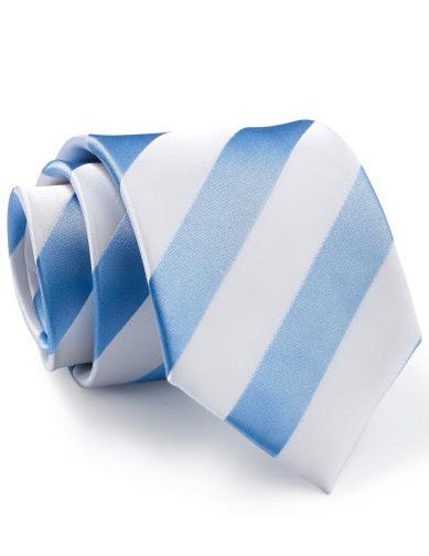 Mẫu Cravat Đẹp 24 - Đồng Phục Màu Sọc Trắng Xanh