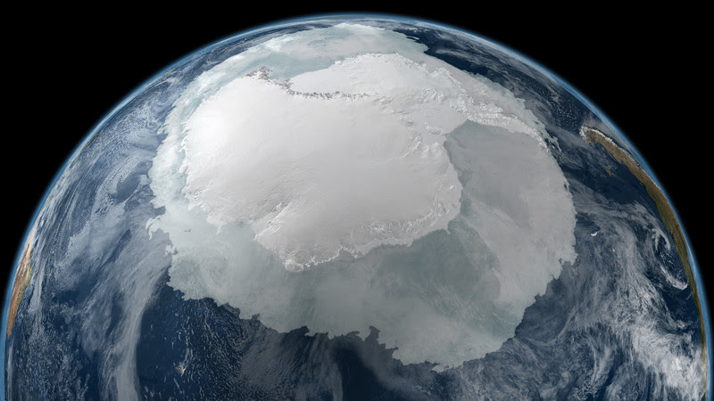 15. View of Antarctica from space.  unusual, amazing photos,