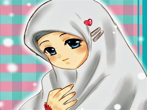 wallpaper kartun muslimah cantik