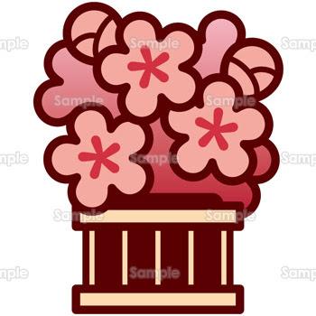 無料イラスト写真 ひな飾り 桜600759飾り 素材集 テンプレートbank