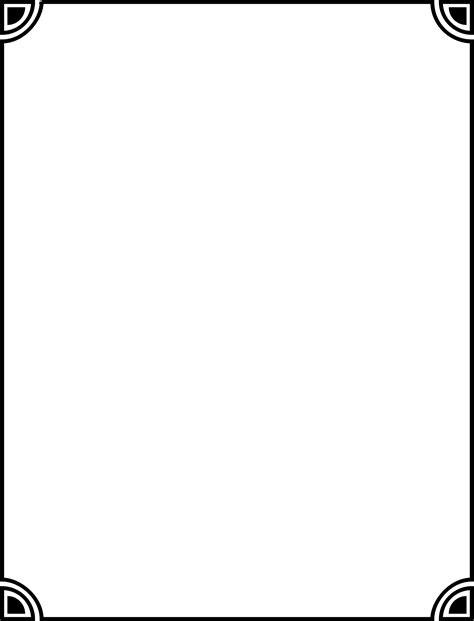 black border png transparent background