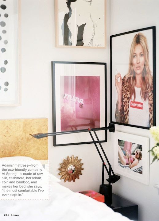 LE FASHION BLOG CHIC NEW YORK CITY BEDROOM LONNY MAGAZINE MICHELLE ADAMS FRAMED ART WALL PAINT DOT ART PRINT BLACK MINIMAL SWING ARM LAMPS LEOPARD PRINT STOOL OTTOMAN KATE MOSS SUPREME POSTER NEON SIGN PHOTO WHITE SHEETS GOLD WOOD HEADBOARD HOLLYWOOD GLAMOUR CHIC MINIMAL INTERIOR DESIGN DECOR 1 3 photo LEFASHIONBLOGCHICNEWYORKCITYBEDROOMLONNYMAGAZINEMICHELLEADAMS3.jpg