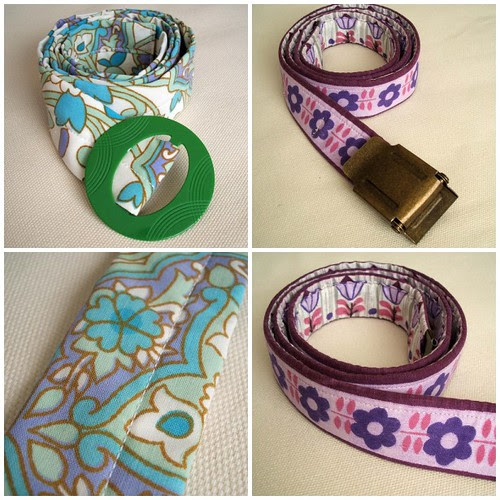 vintage fabric belts