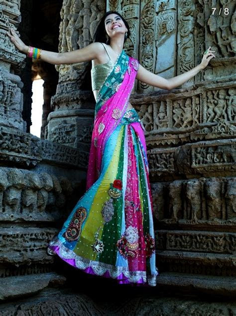 Kalki Saree Style Lehenga Choli Collection 2012/13   New